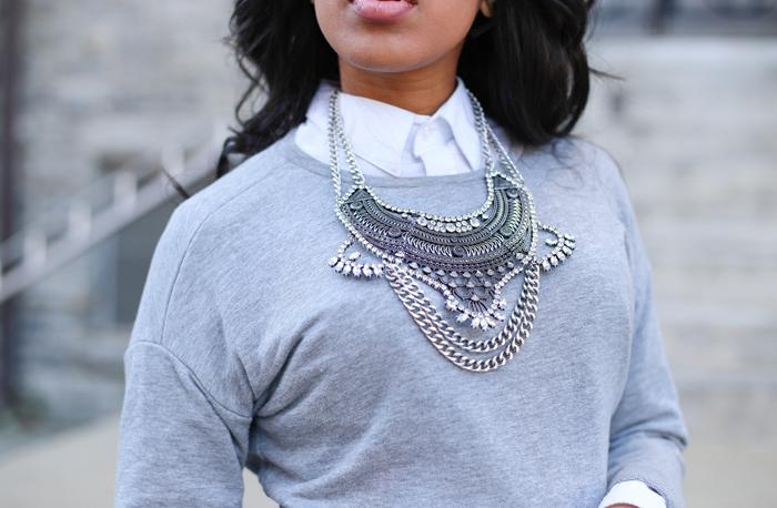 Layered Sweatshirt + Printed Skirt   Mattieologie