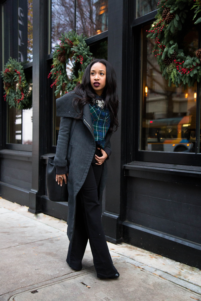 Plaid Shirt + Flared Denim | Mattieologie