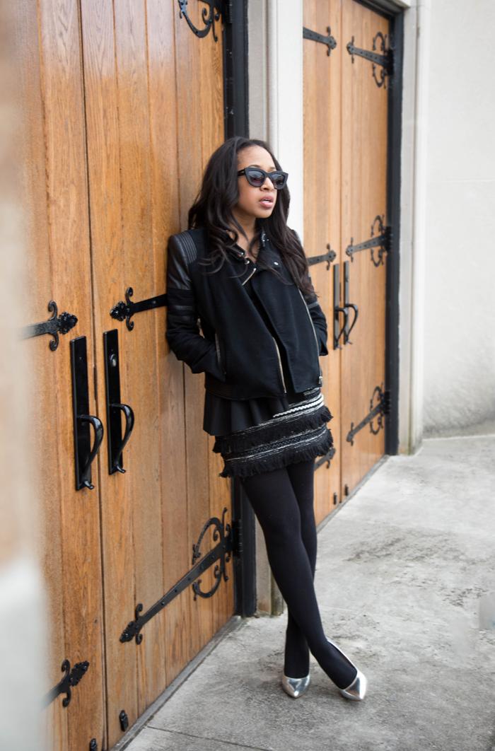 Moto Jacket + Textured Skirt | Mattieologie