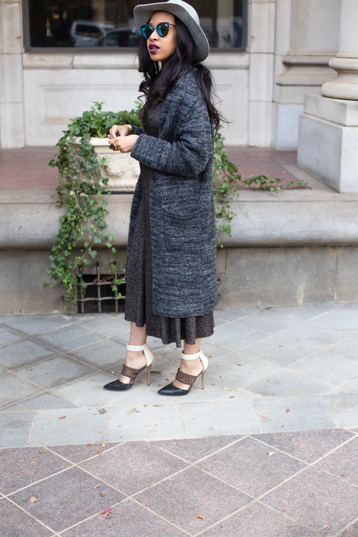 Ribbed Midi Dress + Maxi Cardigan | Mattieologie