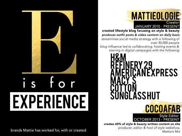 Mattieologie: How To Make A Creative Resume