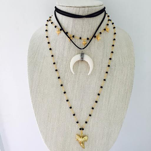 double wrap by cream natural gold in jewelry lyst marc product jacobs necklace