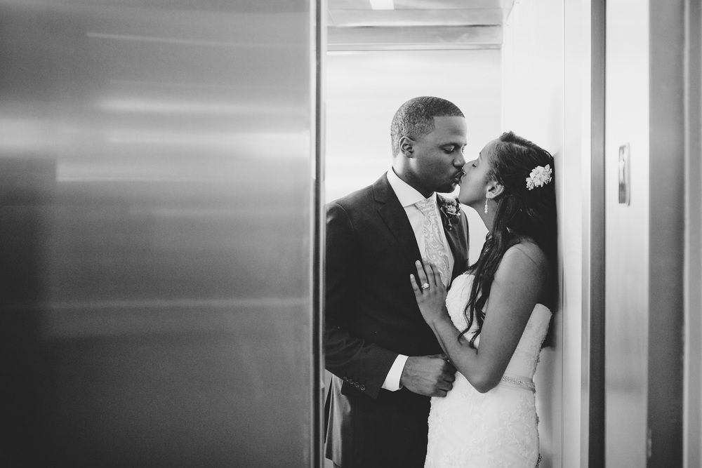 This is one of our favorite shots from our time shooting weddings in New Orleans. The classic elevator shot is romantic, and depending on the elevator, it can be a difficult one to get.