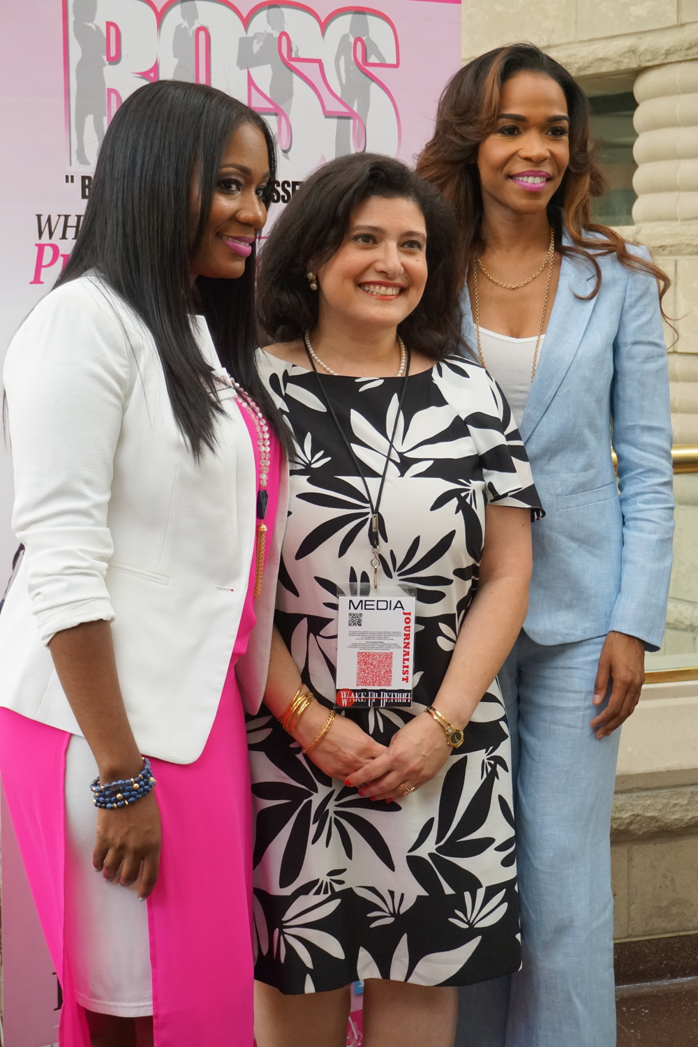L to R: Cameka Smith Founder of The Boss Network, Wakeup Detroit Journalist, and Keynote Speaker: Michelle Williams