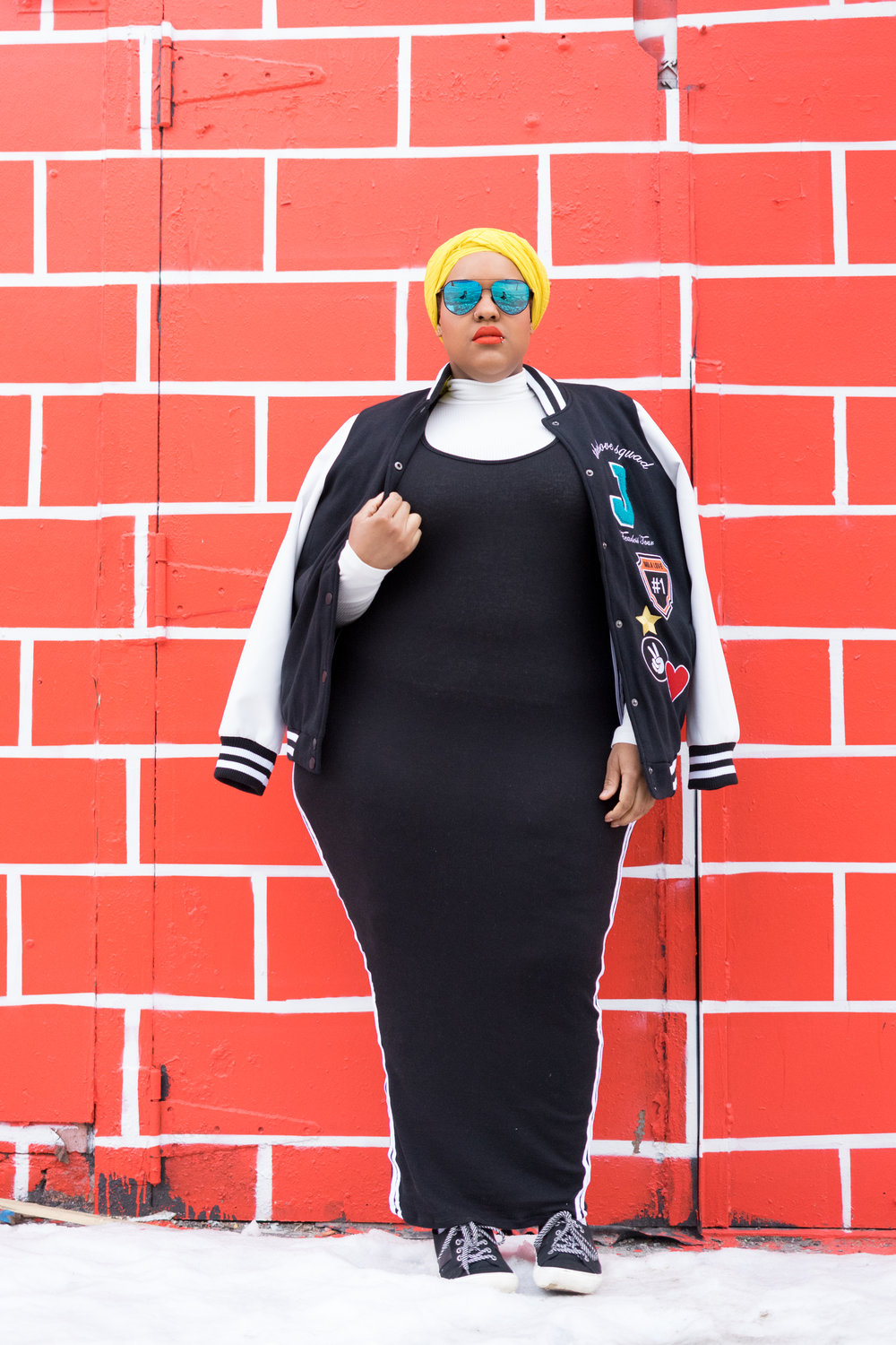 Shades:  DIFF Eyewear  + Jacket:  Addition Elle  + Dress:  REBDOLLS
