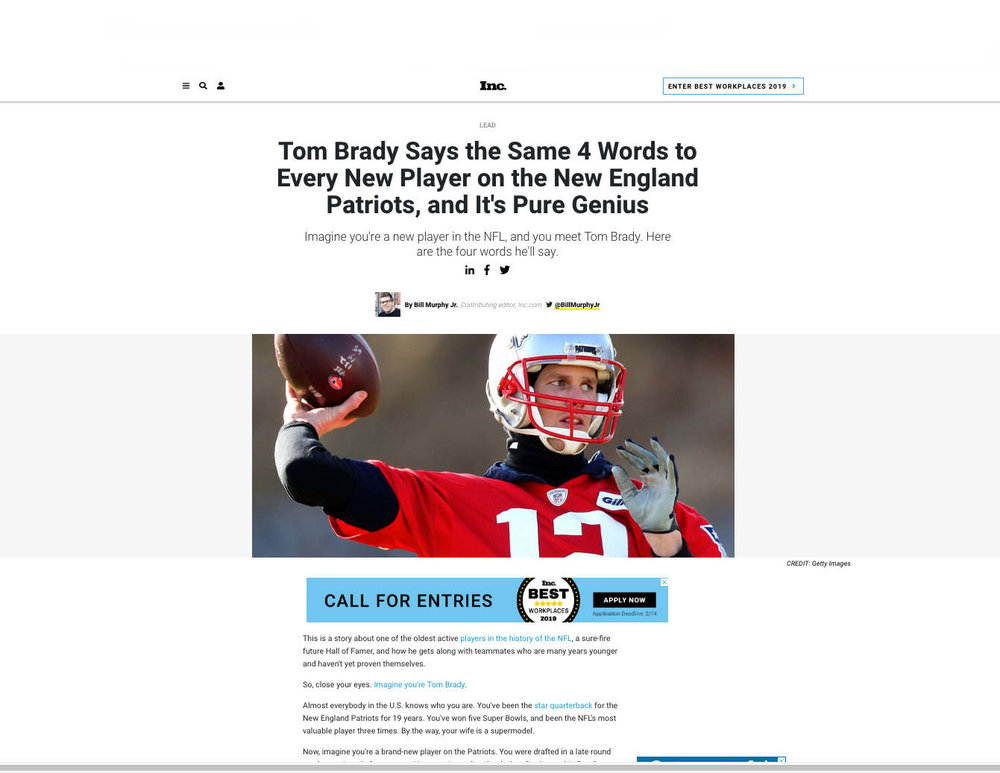 Inc.com article by Bill Murphy Jr