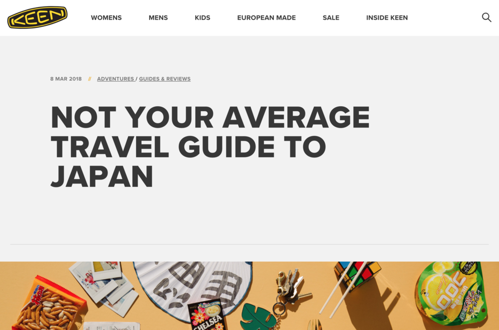 KEEN JAPAN TRAVEL GUIDE