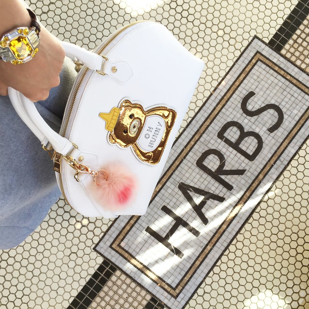 cocotrish patricia chang hunny bear bag harbs shop instagram