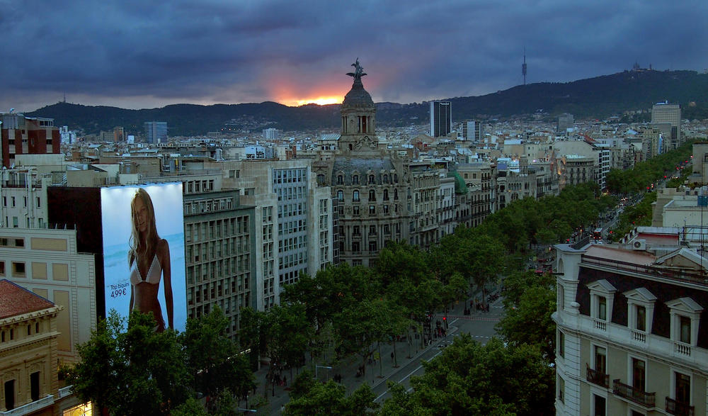 View of Passeig de Gracia from Airbnb