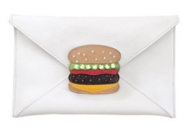 Clutch with detachable burger $55