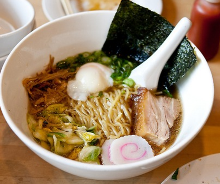 "Restaurant, ""Momofuku Noodle Bar"" Ramen in East Village Get: Pickle Jar and Pork Buns with your Ramen"