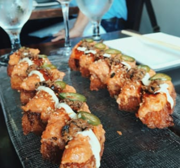 """Restaurant, """"Momoya""""  Japanese Sushi in Chelsea  Get: Crispy Rice Roll"""