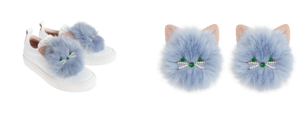 $195 for Hazel Cat accessory - laces onto any shoes with laces