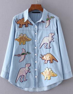 Patricia Chang blog dinosaur outfit
