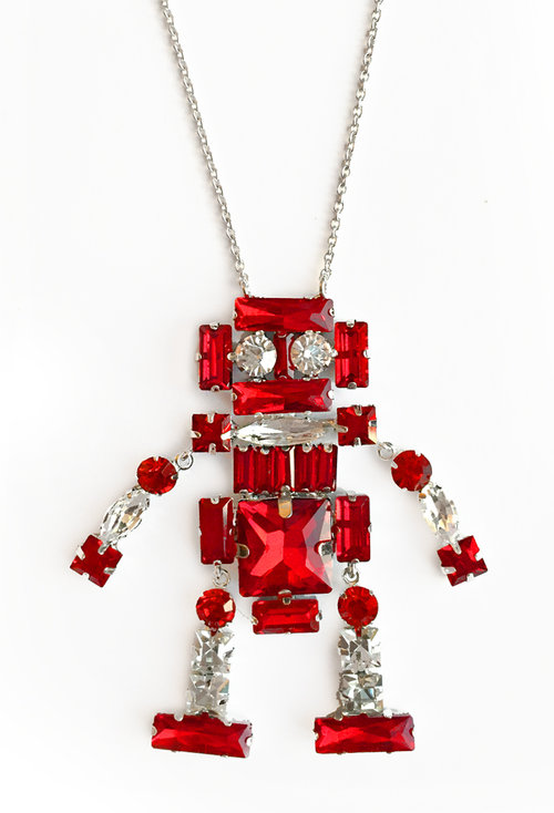 patricia chang robot necklace
