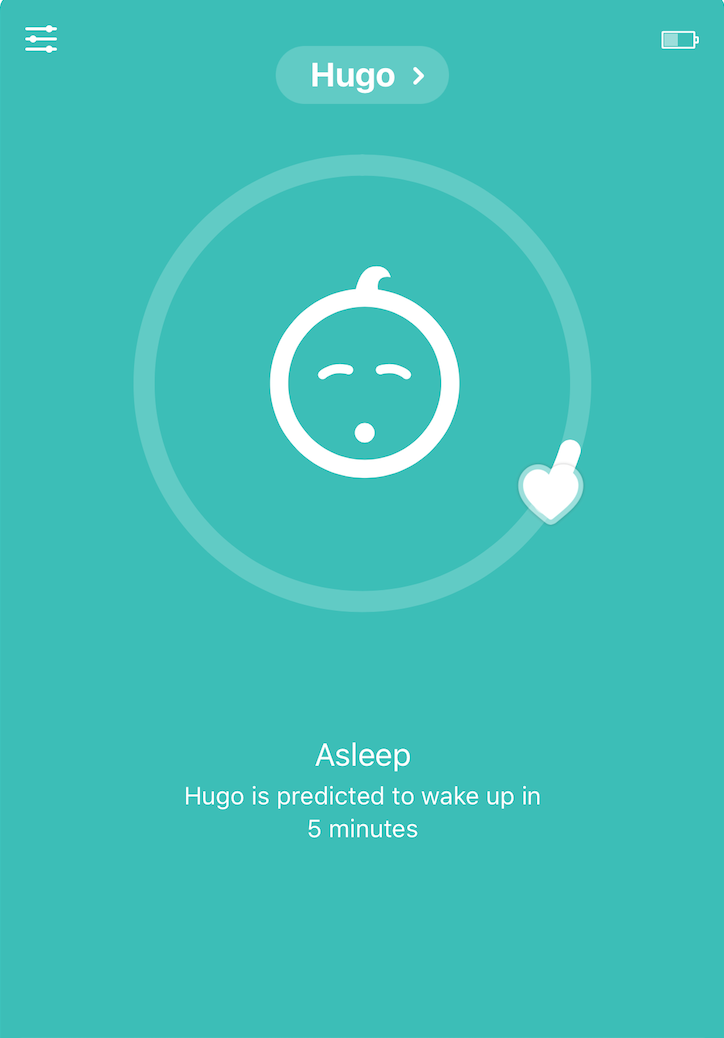 Hugo is predicted to wake up in 5 minutes