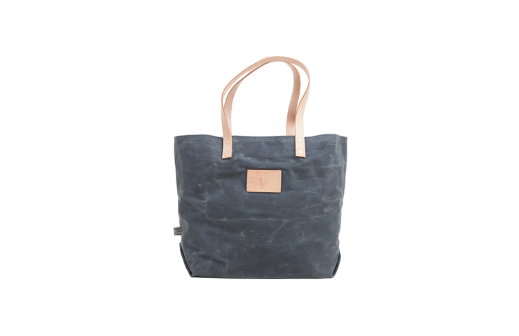 778e6aff6f Slate Blue Wax Canvas Adventure Tote ...