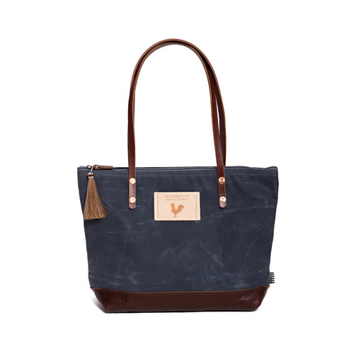 Slate Blue Wax Canvas Shoulder Bag ... 8a711daceccf5