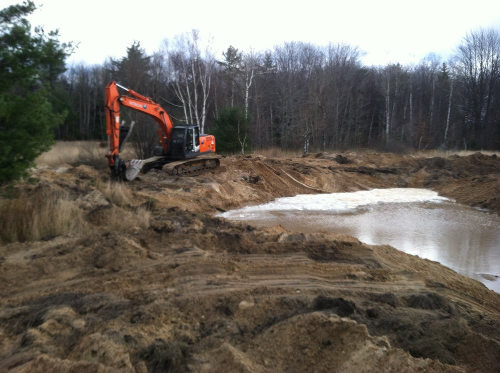 Northport Pond Construction