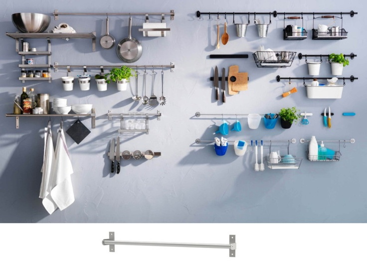 Awesome Photo Credit Ikea With Kitchen Utensil Rails.