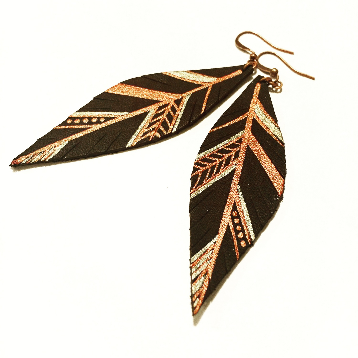 row sr feathered collections earrings stockton feather