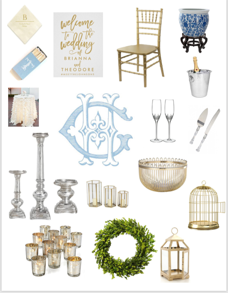 A classic and chic example of a Styled + Mood Inspiration Board!