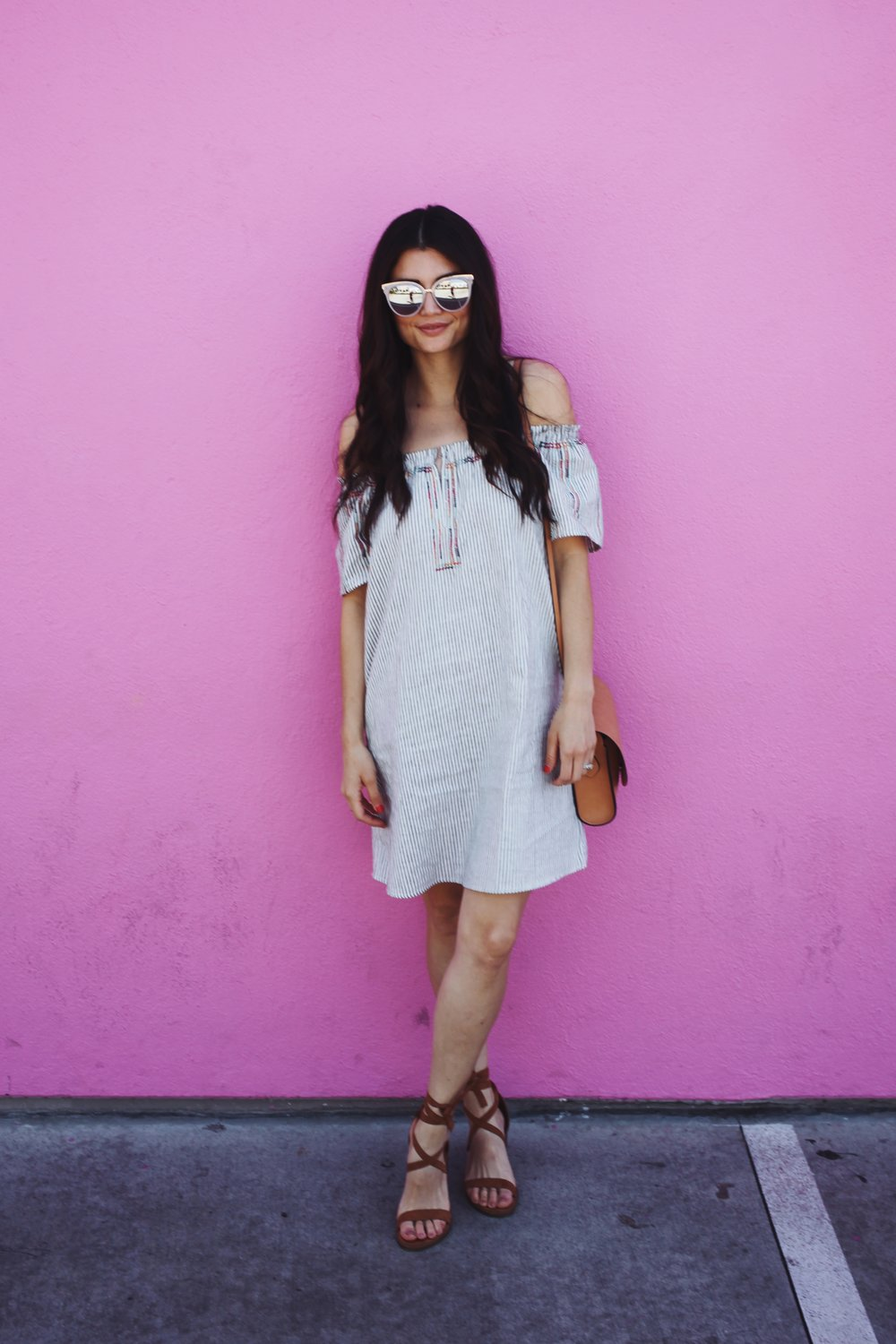 Dress:   Target .  Sunglasses: Old, Nordstrom.