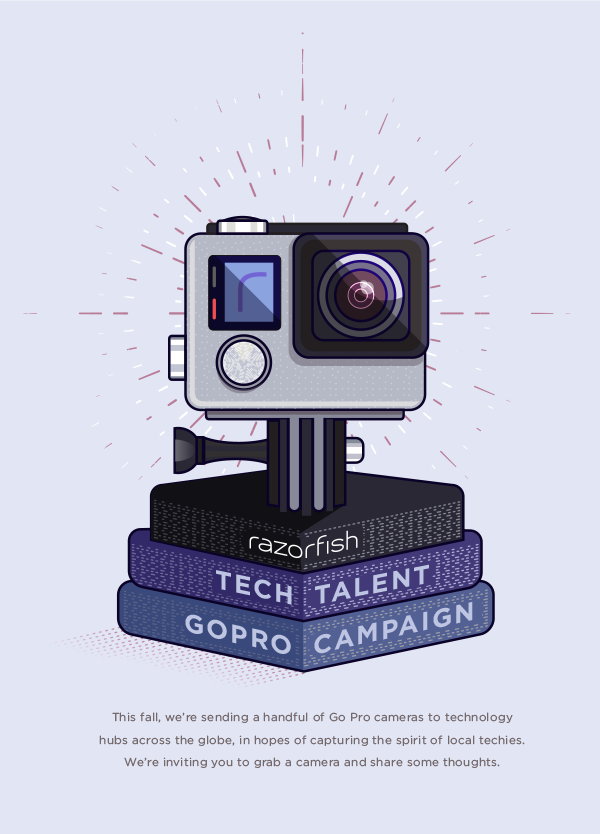 An illustrated poster promoting an internal tech team initiative.
