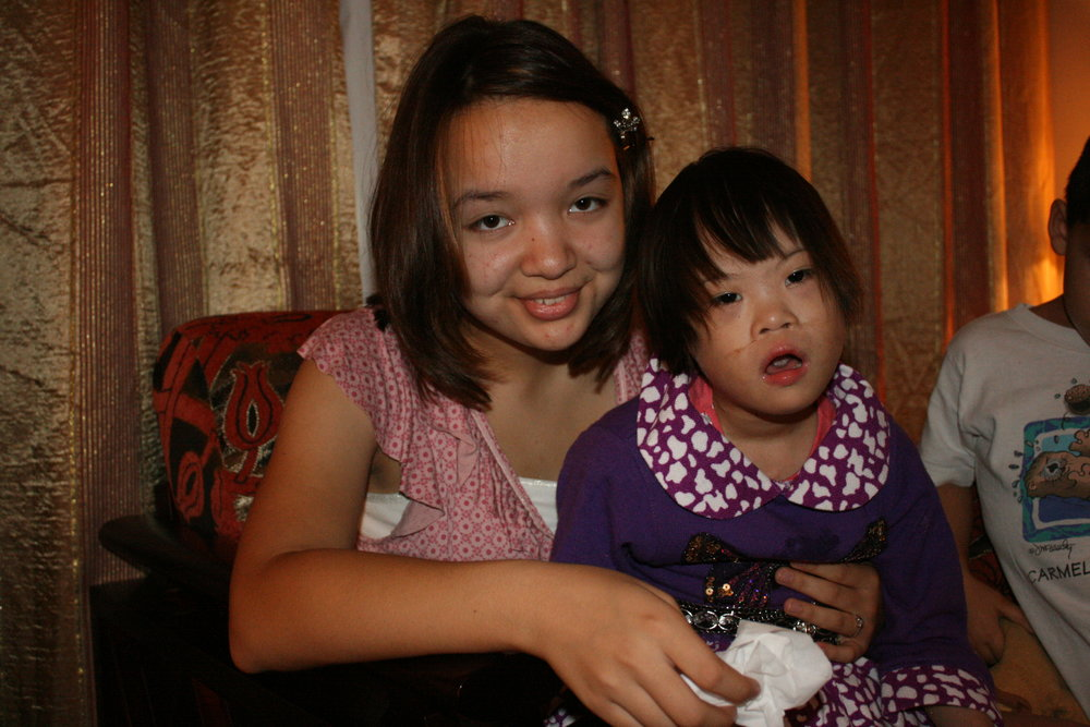 This is Anah and my oldest, Janna, on the day we received her—Sept. 17, 2012.