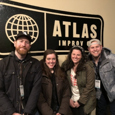 Horror of Terror pre-show at Atlas Improv performing an improvised horror film and its sequel