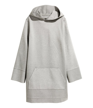 Hooded Grey Sweat Dress