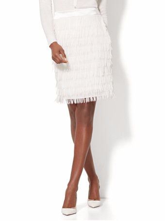White Feather Skirts