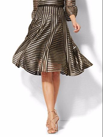 Gold Mesh Skirt