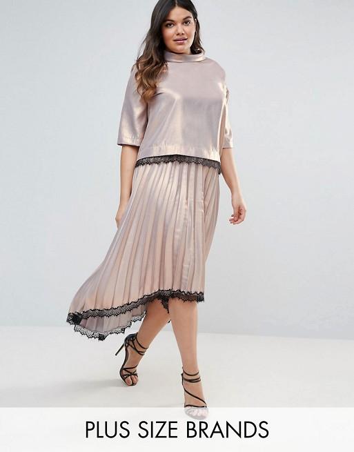 Elvi Premium Shimmer Lace Skirt