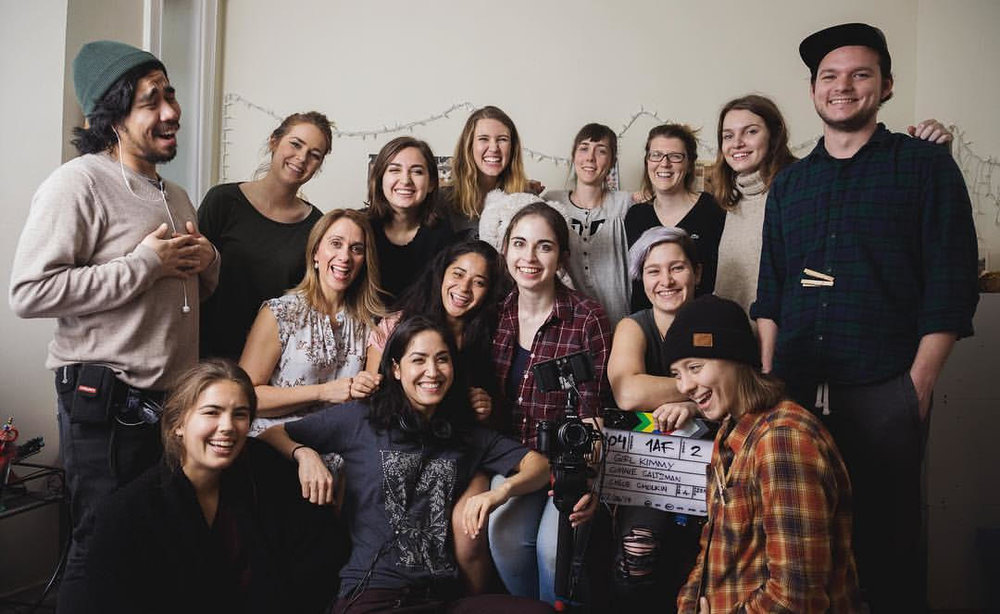 The  Project: Girl  crew on set this February  Photo by  Alexandra Nielsen