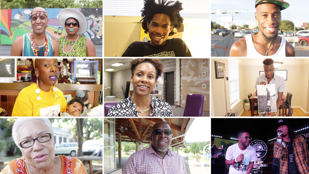 Austin While Black is a webseries sharing the stories of Black Austinites. These are the stories that often get left out of discussions about Austin's past, present, and future. There have always been Black people doing amazing things in Austin, and there always will be. Created by two UT Austin journalism grads, Evelyn and Doyin., Austin While Black's just reminding people that we outchea.