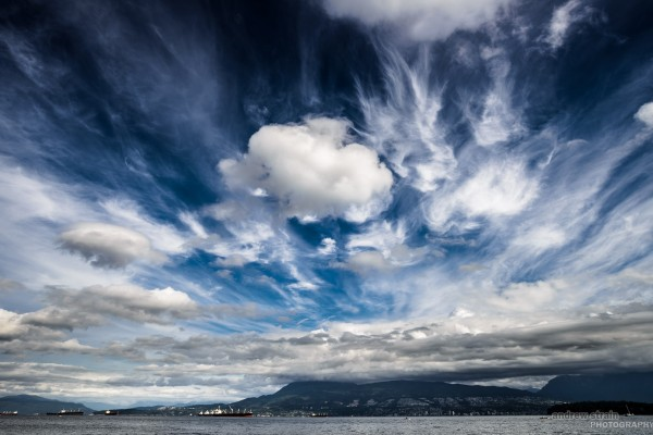 Dramatic sky over West Vancouver. Nikon D800 AF-S 18-35 @18mm f/11 ISO 100