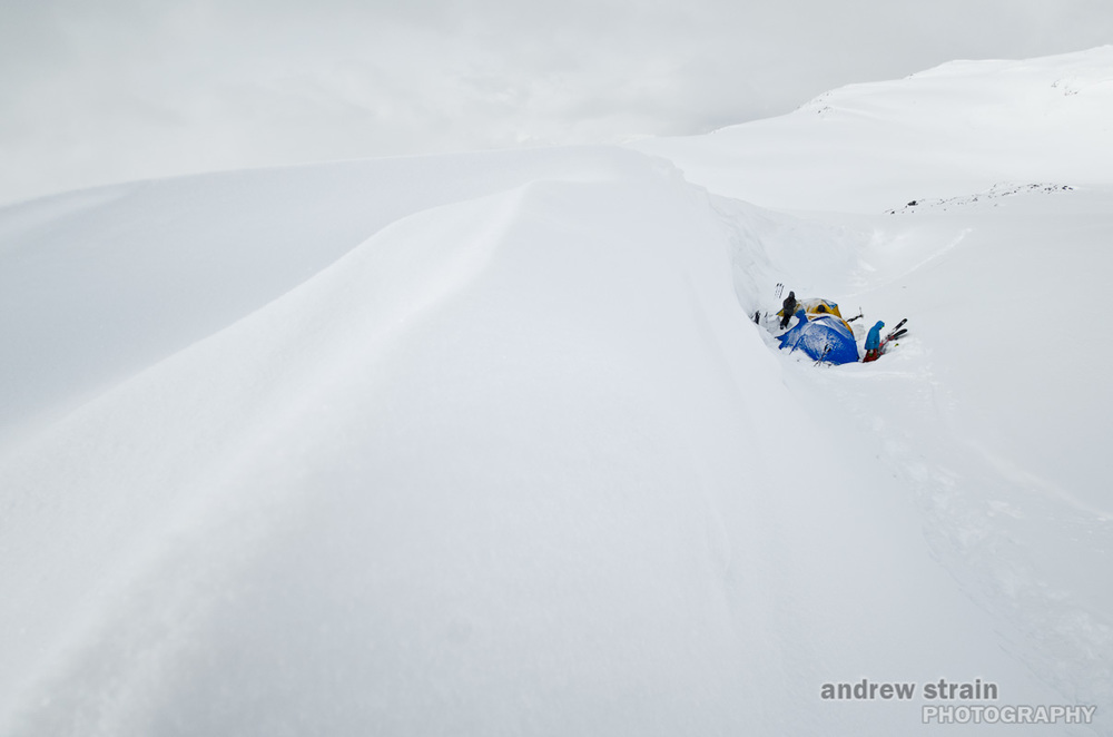 "Winter camping on the Spearhead Traverse while filming for NuuLife Cinema's WSSF Intersection entry, ""Relatively Unknown"""