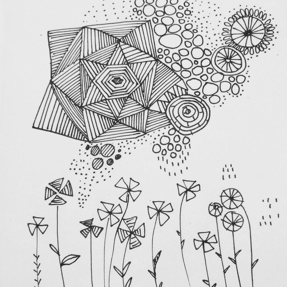 Day 22/100 line art doodle