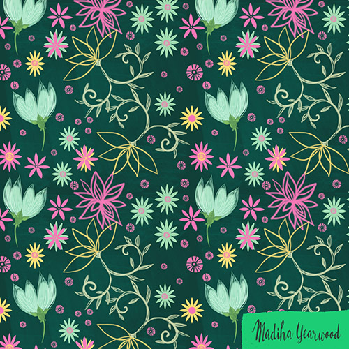 Day 38/100  a flower pattern