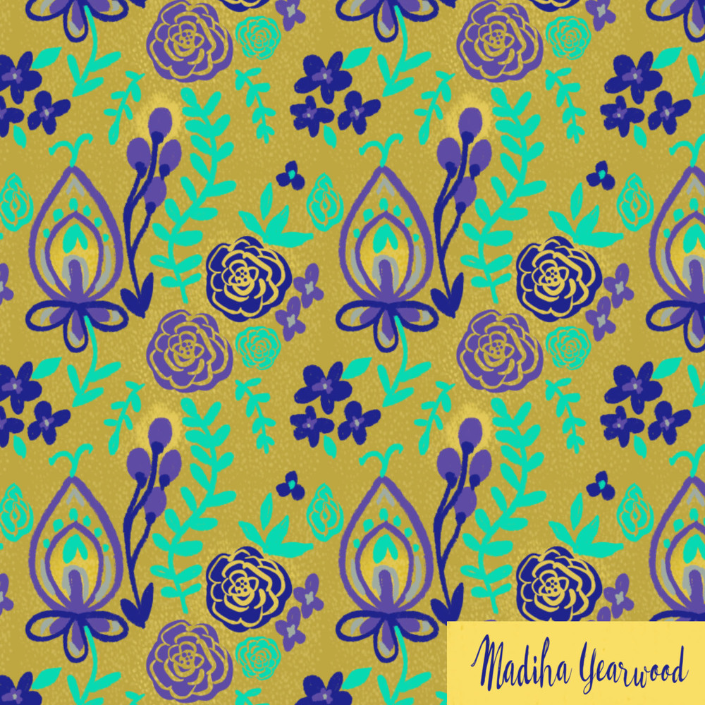 Day 42/100  another floral pattern