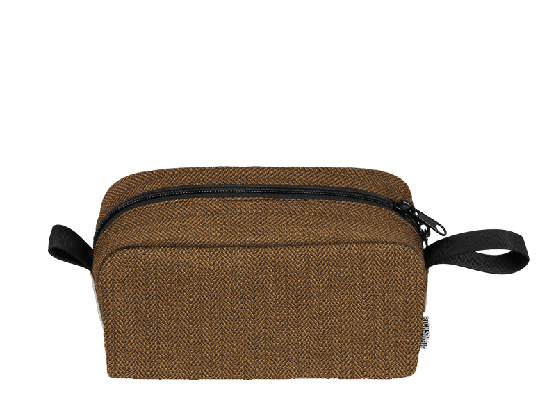 RICKSHAW BAGS: DOPP KIT - $39; more colors available; Rickshaw's trademark Performance Tweed made from recycled bottles and made to order ethically in San Francisco