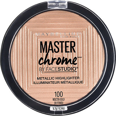 Maybelline Master Chrome Highlighter - If you want that good glow, GIRL, you need this highlighter! I've used it with a big fluffy fan brush and a more dense highlighter brush and they both look incredible!