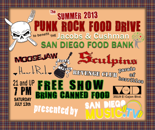 Summer 2013 Punk Rock Food Drive