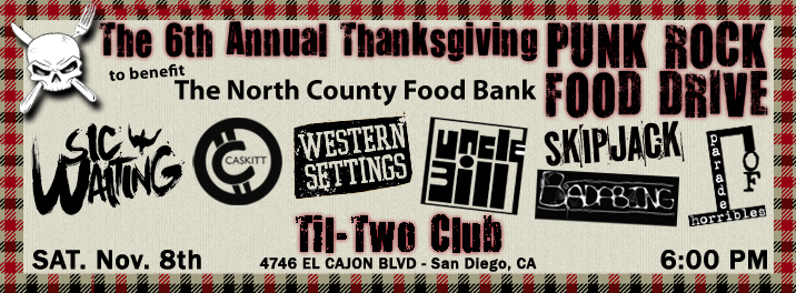 6th Annual Thanksgiving Punk Rock Food Drive