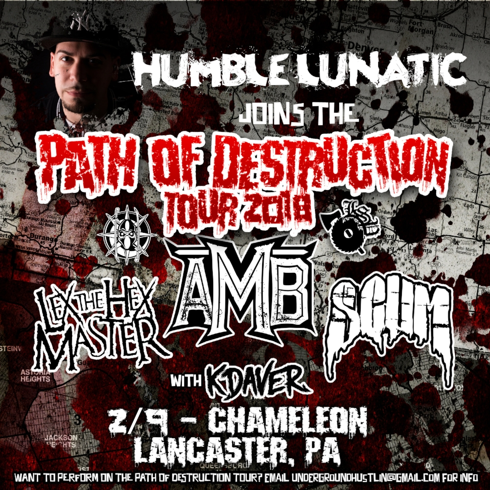 CATCH ME OPENING UP AT THE PATH OF DESTRUCTION TOUR 2018 AT THE CHAMELEON CLUB IN LANCASTER, PA - CLICK IMAGE FOR DETAILS