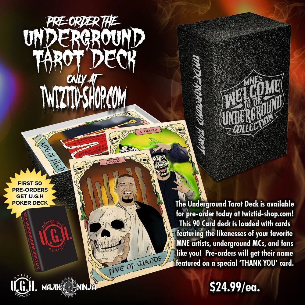 Click the picture to Pre-Order the Majik Ninja Underground Tarot Deck today!!