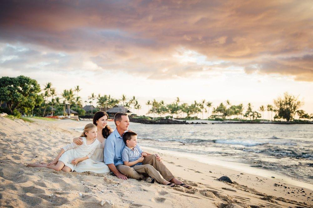 Hawaii sunset on the beach
