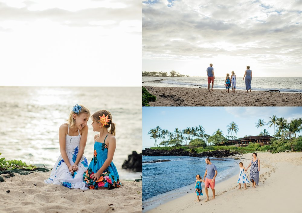 family photography session in Kukio
