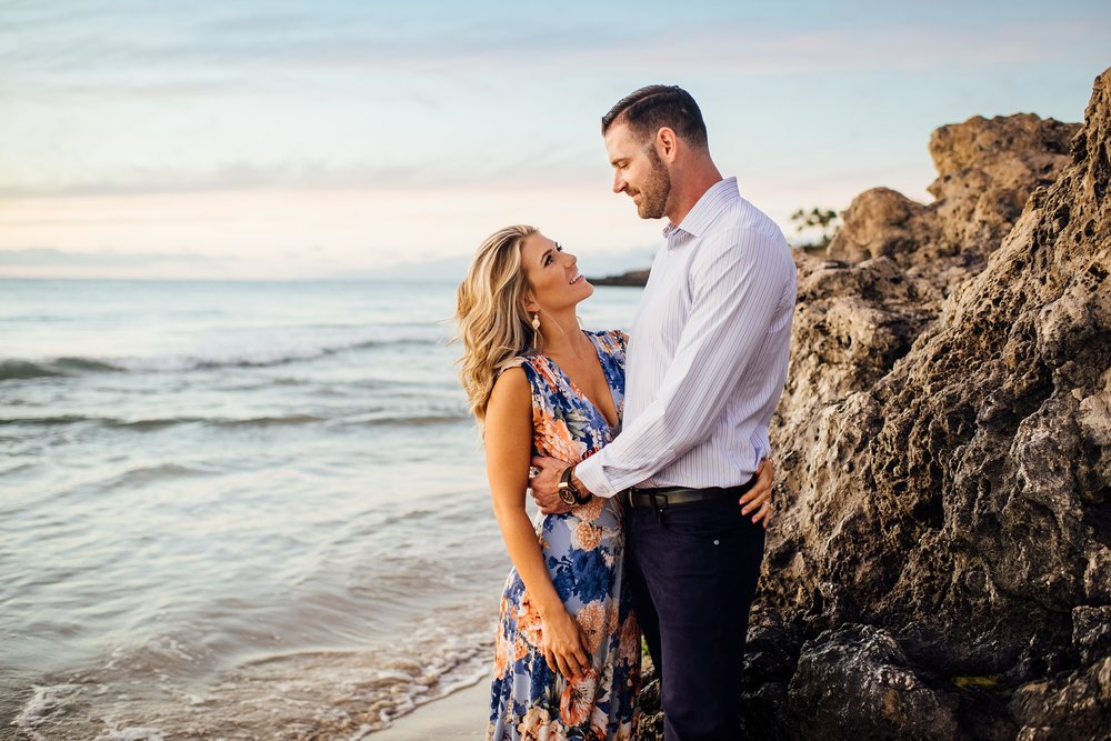 westin hapuna beach engagement session